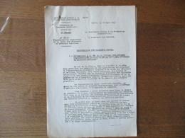 PARIS LE 18 MARS 1941 LE DIRECTEUR DU COMMERCE INTERIEUR E.LECUYER REGLEMENT PROVISOIRE DE LA VENTE DES VÊTEMENTS ET ART - Historische Dokumente