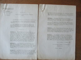 PARIS LE 20 MARS 1941 LE SECRETAIRE D'ETAT A LA PRODUCTION INDUSTRIELLE PIERRE PUCHEU ARRETE REGLEMENTATION PROVISOIRE D - Historische Documenten