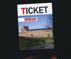R146- Ticket D'entrée - Les Arts Décoratifs - 2016 - Tickets D'entrée