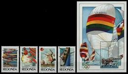 Redonda 1984 - Mi-Nr. 158-161 & Block 24 ** - MNH - Olympia Los Angeles - Briefmarken