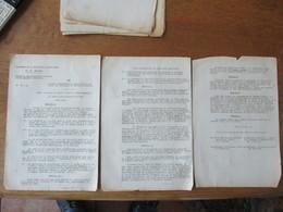 VICHY NOUS MARECHAL DE FRANCE CHEF DE L'ETAT FRANCAIS LOI PORTANT REGLEMENTATION PROVISOIRE DE LA VENTE DES VÊTEMENTS ET - Historische Documenten
