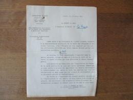 LILLE LE 17 AVRIL 1941 LE PREFET DU NORD CIRCULAIRE REGLEMENTATION PROVISOIRE DE LA VENTE DE VÊTEMENTS ET D'ARTICLES TEX - Historische Dokumente