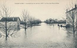 94) CHOISY-LE-ROI : Inondations De Janvier 1910 - La Rue Des Pâquerettes - Choisy Le Roi