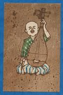 CPSM  Japon ( Types ) Musicien  Instrument De Musique  à Identifier 9/14 Cm Non Voyagée - Japan