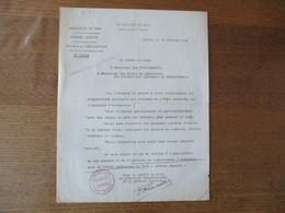 LILLE LE 13 FEVRIER 1941 LE DIRECTEUR DEPARTEMENTAL DE LA DEFENSE PASSIVE NOTE ECLAIRAGE PUBLICITAIRE - Historische Dokumente