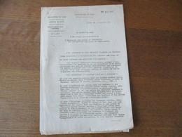 LILLE PREFECTURE LE 3 JANVIER 1941 LE DIRECTEUR DEPARTEMENTAL DE LA DEFENSE PASSIVE NOTE OCCULTATION DES LUMIERES - Historische Dokumente