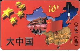 CARTE-PREPAYEE-10€-CHINA CARD-Télé 2--Plastic Fin Glacé- -Gratté--TBE-RARE - France