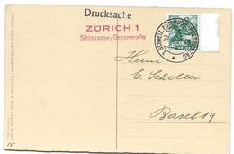 """244 - 42 - Carte Avec Oblit Spéciale """"Zürich 1 Sihlstrasse/Gessneralle 1937"""" - Marcophilie"""