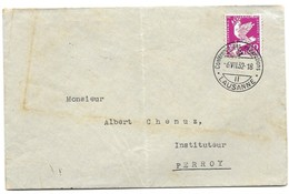"""244 - 45 - Enveloppe Avec Oblit Spéciale """"Conférence Des Réparation Lausanne 1932 Attention Léger Pli Vertical - Marcophilie"""