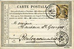 Carte N°22 NORD CASSEL 23 Juin 76 Type 17  Pour Boulogne Sur Mer - Entiers Postaux