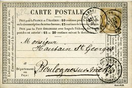 Carte N°22 NORD CASSEL 23 Juin 76 Type 17  Pour Boulogne Sur Mer - Cartoline Precursori