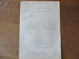 LILLE  LE 21 DECEMBRE 1940 LE PREFET F.CARLES CREATION DU COMITE INTERDEPARTEMENTAL DE LA REPARTITION DE LA VIANDE - Historische Dokumente