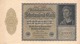 10.000 Mark Reichsbanknote VG/G (IV) - 1918-1933: Weimarer Republik