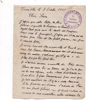 Cachet 1er REGIMENT DU GENIE - Cie 5/27 (1ere Escouade Compagnie 5/27 Caserne Des Petites écuries à Versailles) - Autres