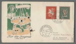 C4964 GERMANY SAARLAND FDC 1958 ERSTTAG FUR DIE JUGEND - 1957-59 Federazione