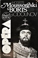 L'AVANT SCÈNE OPÉRA. Moussorgski, Godounov. Bimestriel N° 27/28.  Mai-Août 1980. - Musique