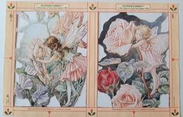 Page Moderne (1996) De Découpis, 2 Images. Thème: Flower Fairies. Fées Des Fleurs. From Mary Barker 1899. Gaufrée - After 1965