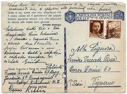 """CT-03359-CARTOLINA POSTALE PER LE FORZE ARMATE """"67° REGG.FANTERIA 6 COMPAGNIA BATTAGLIONE RICHIAMATI - 1900-44 Vittorio Emanuele III"""