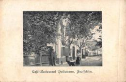 SAALFELDEN AUSTRIA~DOUBLE PANEL PANORAMA + CAFE RESTAURANT HAITZMANN ~POSTCARD 42517 - Saalfelden