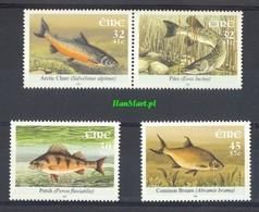 Ireland 2001 Mi 1369-1372 MNH ( ZE3 IRLpar1369-1372dav37B ) - Peces