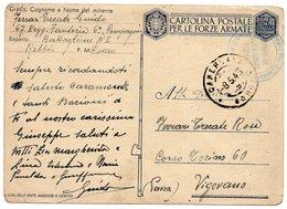 """CT-03369-CARTOLINA POSTALE PER LE FORZE ARMATE """"67° REGG. FANTERIA 6 COMPAGNIA - Interi Postali"""