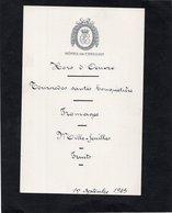 MENU - 1 Septembre 1945 - HOTEL De CRILLON - Menus