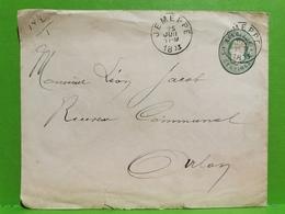 Lettre, Oblitéré 1893 Jemeppe To Arlon - Belgique