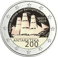 Estland  2020     2 Euro Commemo  Antarctica     UNC Uit De Rol  UNC Du Rouleaux  !! - Estonia