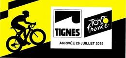 Tour De France 2019 Autocollant Tignes Ville Arrivée Sport Vélo Cyclisme Cycliste - Ciclismo
