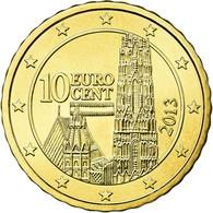 Autriche, 10 Euro Cent, 2013, FDC, Laiton - Autriche