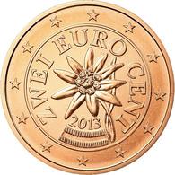 Autriche, 2 Euro Cent, 2013, FDC, Copper Plated Steel - Autriche