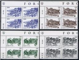 Faeroër Y/T 53 / 56 (**) In Blok Van 4. - Féroé (Iles)