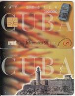 """CUBA - Lighthouse, Informatica """"98 Cuba, Urmet Demo Card - Cuba"""