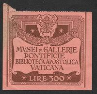 Vatican Italie Italia 2 Ancienne Billet Entrée Biblioteca Vaticana Tesoro S. Pietro Vatican Library Ticket - Tickets D'entrée