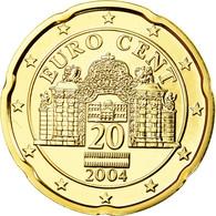 Autriche, 20 Euro Cent, 2004, FDC, Laiton, KM:3086 - Autriche