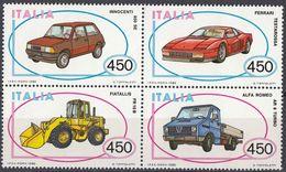 ITALIA - 1986 - Serie Completa Comprendente 4 Valori In Quartina, Nuovi MNH: Yvert 1712/1715. - 1981-90:  Nuovi
