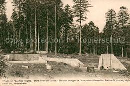 Kq92763 Raon Sur Plaine Plate Forme Du Donon Derniers Vestiges De L'occupation A - France