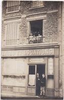 """Carte-photo Devanture Animée Agence Immobilière """"Vente Et Locations"""" à Localiser - Photo BLANC à Choisy (Seine) - Te Identificeren"""