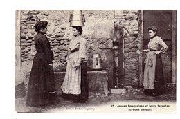 Mauleon-Licharre. Jeunes Basquaises Et Leurs Ferretas.Cachet Ambulant Mauleon A Aramits.1906. - Mauleon Licharre