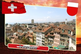 Postcard, REPRODUCTION, Municipalities Of Switzerland, Lausanne - Landkaarten