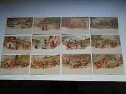 "Beau Lot De 12 Cartes Postales De Fantaisie ( Fantasie ) "" Schiller ' S Wilhelm Tell ""  Serie Complète - Postkaarten"