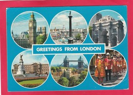Modern Multi View Post Card Of Greetings From London,England,P36. - London Suburbs