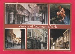 Modern Multi View Post Card Of Stonegate, York,Yorkshire,England,P37. - York