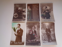 Beau Lot De 60 Cartes Postales De Fantaisie  Hommes  Homme   Mooi Lot 60 Postkaarten Van Fantasie Mannen Man -  60 Scans - Postkaarten