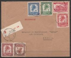 """Congo Belge - L. Recommandée Affr. 4f Càd BUNIA /3.5.1941 - Cachet Oval """"Société Commerciale Et Industrielle De L'Ituri"""" - 1923-44: Briefe U. Dokumente"""
