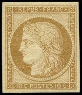 * EMISSION DE 1849 - 1    10c. Bistre-jaune, Marges Régulières, Frais Et TTB. C - 1849-1850 Ceres