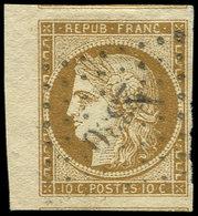EMISSION DE 1849 - 1a   10c. Bistre-brun, Petit Bdf Et 2 Filets De Voisin, Obl. PC, Superbe - 1849-1850 Ceres