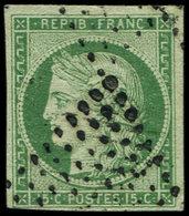 EMISSION DE 1849 - 2    15c. Vert, Oblitéré Losange De 64 Pts, TB. C - 1849-1850 Ceres