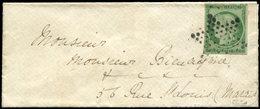 Let EMISSION DE 1849 - 2    15c. Vert, Obl. ETOILE S. Env., Au Verso Càd T1318 7 PARIS 7 1/10/52, TTB - 1849-1850 Ceres
