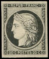 * EMISSION DE 1849 - 3a   20c. Noir Sur Blanc, Infime Trace De Ch., Fraîcheur Postale, TB - 1849-1850 Ceres